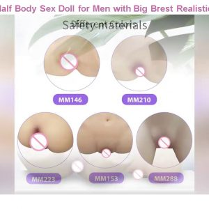 Cheap! Sex Dolll & Half Body Sex Doll for Men with Big Brest Realistic 3D artificial vagina for Mal