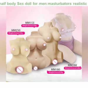 Cheap! 1:1 women half body Sex doll for men masturbators realistic girl artificial vagina sexy voic