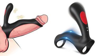 Penis Ring Vibrator with Stimulator | HlaccJoy Sex Toys